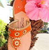 Clementine Classic Sandals With Gold Trim