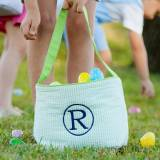Monogrammed Blue Seersucker Easter Basket