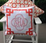 Monogrammed 20 Inch Pillow From Jane  . . .