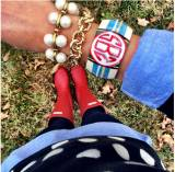 Monogrammed Good Girls Gone Plaid Bangle  . . .