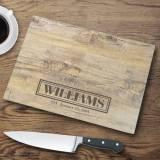 Personalized Glass Cutting Board Rustic  . . .