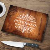 Personalized Glass Cutting Board Rosewood  . . .