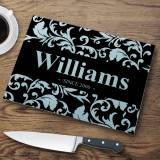 Personalized Flourish Glass Cutting Board