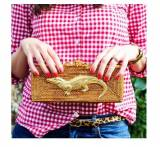 Basket Clutch With Large Adornment