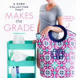 ON SALE! Monogrammed Laundry Tote In Mia Tile