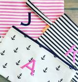 Monogrammed Canvas Clutch