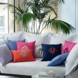 Matouk Monogrammed Linen Pillow