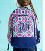 Monogrammed Mia Tile Backpack