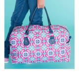 Monogrammed Travel Duffel Mia Design