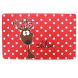 Personalized Reindeer Placemat For Girls