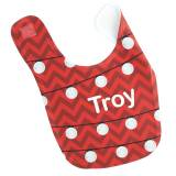 Personalized Holiday Lights Baby Bib