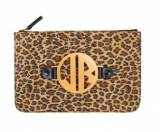 Leopard Harper Clutch With Interchangeable  . . .