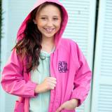 Personalized Childs Hot Pink Rain Jacket