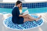 Personalized Sand Circle Beach Towel Luna  . . .