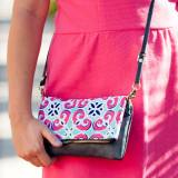 Personalized Mia Tile Crossbody Purse