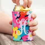 Personalized Drink Wrap Koozie Poppy Floral