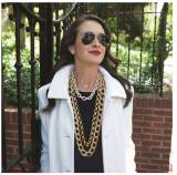 Ritz Crystal And Gold Link Necklace