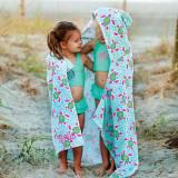 Personalized Kids Hooded Turtle Tide Towel