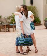 Personalized Striped Shoreline Duffel Bag