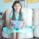 Monogrammed Parker Paisley Cosmetic Bag