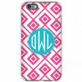 Monogrammed IPhone Case Lucy Pattern