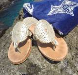 Palm Beach Sandals Ocean Ave In Platinum  . . .