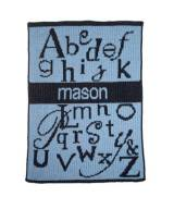 Monogrammed Knit ABC's And Name Blanket