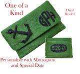 Monogrammed Raised Anchor And Date Beaded Bag
