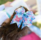 Monogrammed Girl's Garden Party Hair Bow