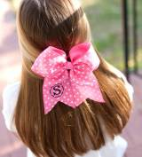 Monogrammed Girls Dottie Polka Dot Hair Bow