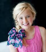 Monogrammed Girls Posie Floral Print Hair Bow