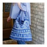 Monogrammed Indigo Daze Messenger Bag