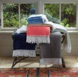 Matouk Pezzo Brushed Cotton Throw With 6  . . .