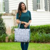 Monogrammed Ella Grey Shoulder Bag