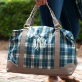 Monogrammed Middleton Plaid Weekender Bag