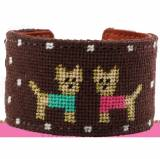 Yorkies Needlepoint Cuff