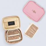 Leather Isabella Monogrammed Jewelry Case