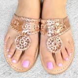 Palm Beach Rose Gold Classic Ladies Sandals