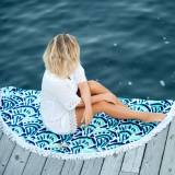 Monogrammed Make Waves Round Beach Towel