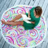 Monogrammed Summer Sorbet Round Beach Towel