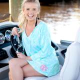 Monogrammed Poolside Palm Womens Tunic
