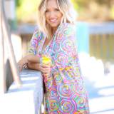 Monogrammed Summer Sorbet Womens Tunic