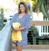 Monogrammed Tide Pool Womens Tunic