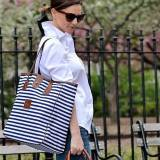 Monogrammed Nantucket Tote Spring Leather  . . .