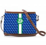 Monogrammed Norfolk Crossbody Spring Stripe