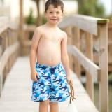 Personalized Boys Cool Camo Swim Trunks