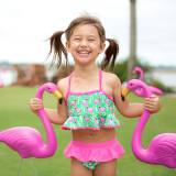 Personalized Girls Flamingle Swim Set