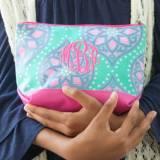 Monogrammed Marlee Mandala Cosmetic Bag