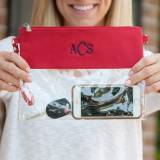 Personalized Clear Crossbody Red Trimmed  . . .