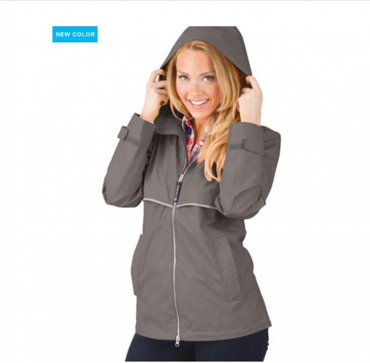 monogrammed ladies charles river england rain jacket